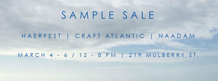 Haerfest, Craft Atlantic & Naadam Sample Sale