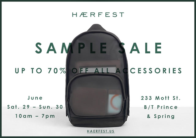 Haerfest Sample Sale