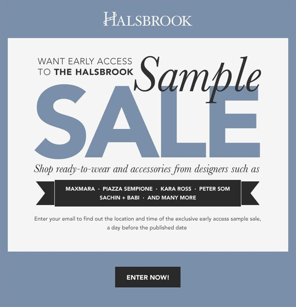 Halsbrook Sample Sale