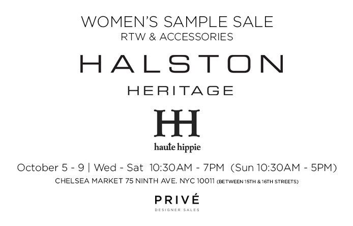 Halston Heritage & Haute Hippie Sample Sale