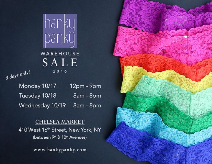 Hanky Panky Warehouse Sale