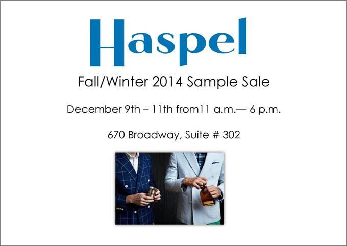 Haspel Fall/Winter 2014 Sample Sale