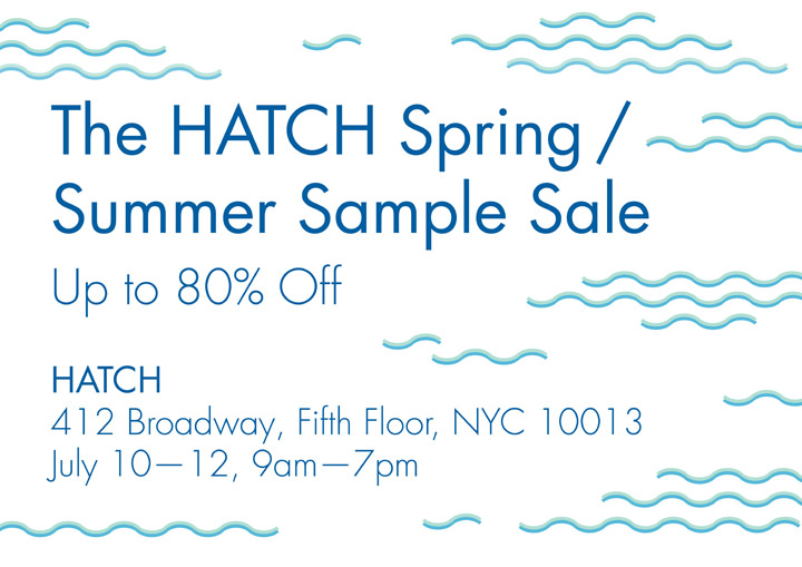 HATCH Sample Sale