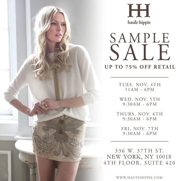 Haute Hippie Clothing New York Sample Sale - TheStylishCity.com