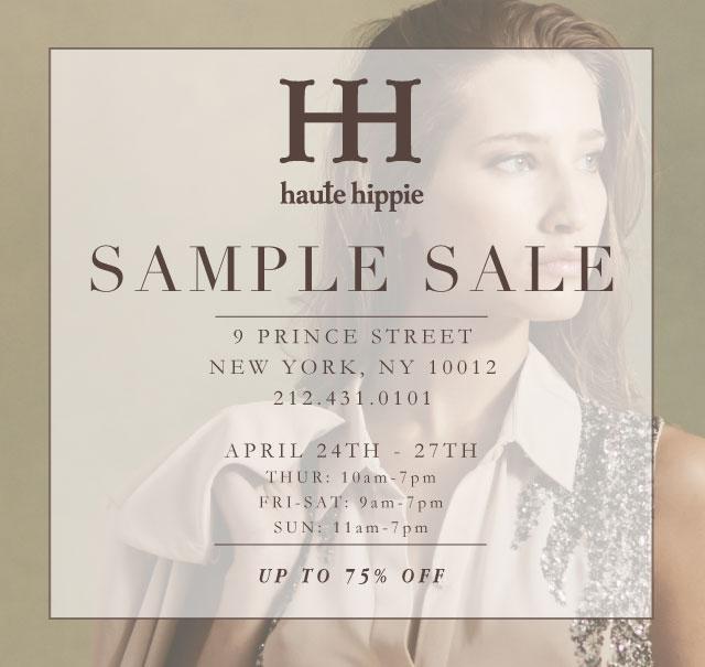 Haute hippie sample sale