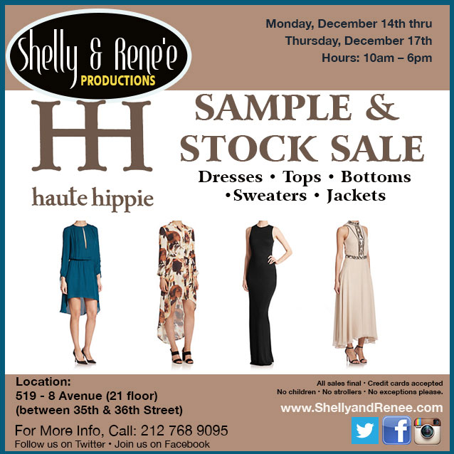 Haute Hippie Sample & Stock Sale