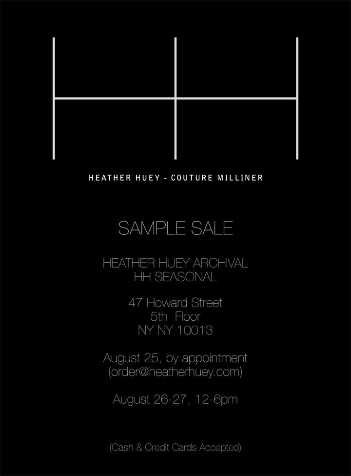 Heather Huey Sample Sale