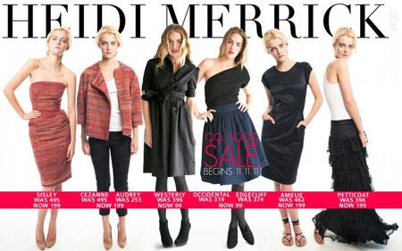 Heidi Merrick Sample Sale