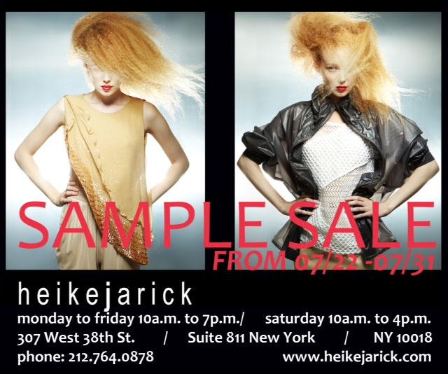 Heike Jarick Sample Sale