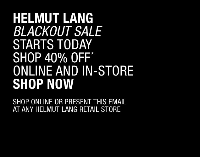 Helmut Lang Blackout Sale