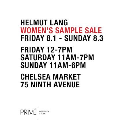 Helmut Lang Chelsea Sample Sale