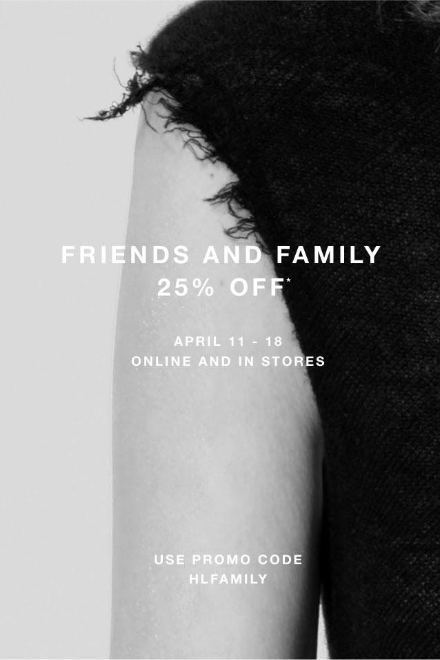 Helmut Lang Friends & Family Sale
