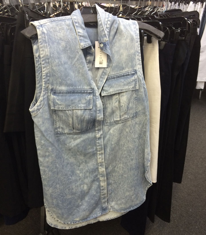 Helmut Lang jean top for $50