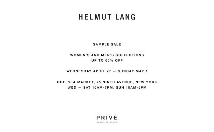 Helmut Lang Clothing New York Sample Sale - TheStylishCity.com