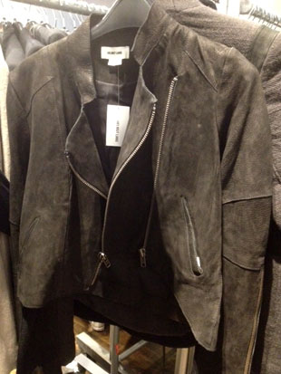 Helmut Lang Simple Waxed Leather Jacket ($329)