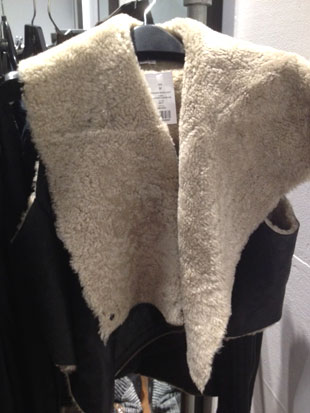 Helmut Lang Weathered Shearling Cropped Vest ($249)