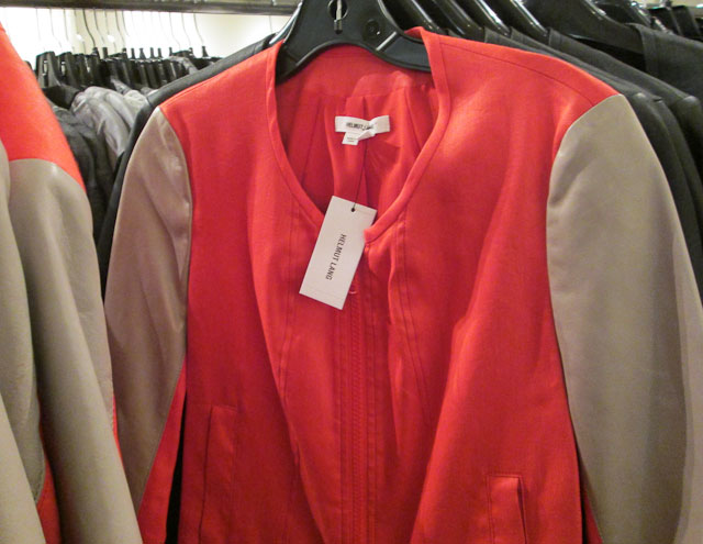 Soft collarless jacket for $199