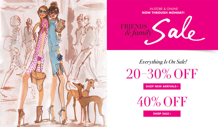 Enjoy 20-30% off full-priced merchandise & 40% off sale merchandise
