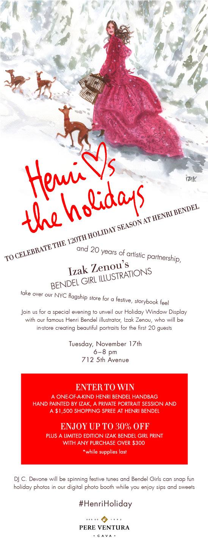Henri Bendel Holiday Window Unveiling Event