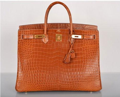 Hermes Matte Fauve Nilo Crocodile 30cm Birkin Bag Gold Hardware