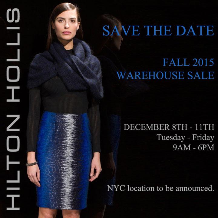 Hilton Hollis Fall 2015 Warehouse Sale