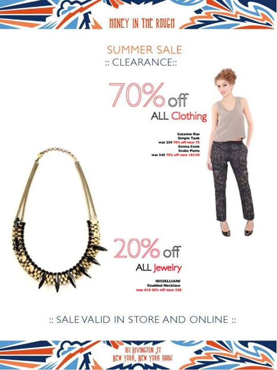 Honey in the Rough Summer Clearance Sale