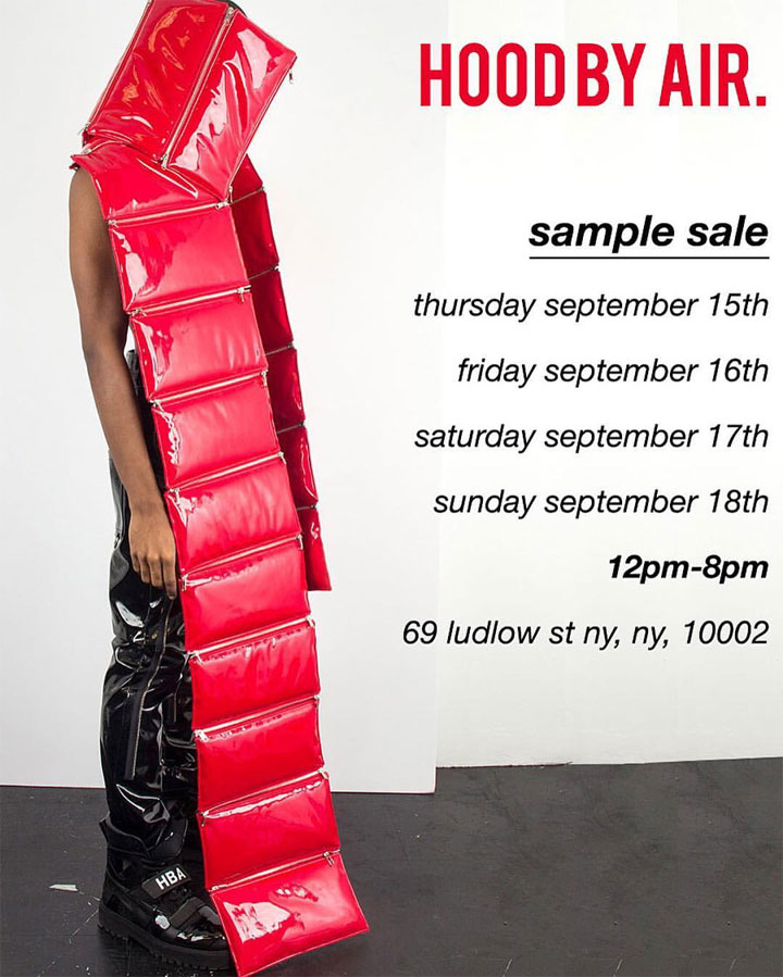 Hood by Air Sample Sale
