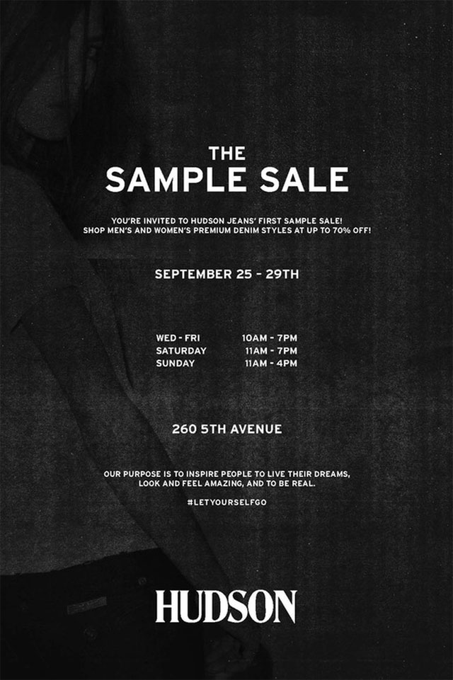 Hudson Jeans Sample Sale