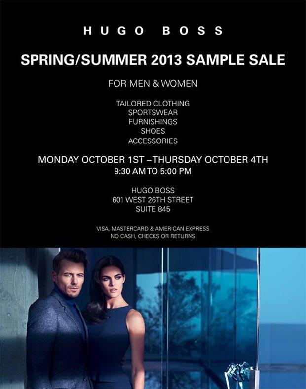 Hugo Boss Clothing, Footwear & Accessories New York Sample Sale ...