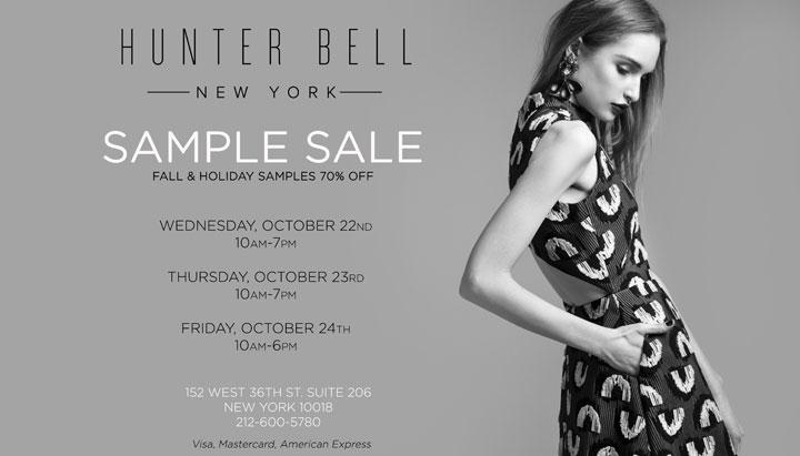Hunter Bell NYC Sample Sale