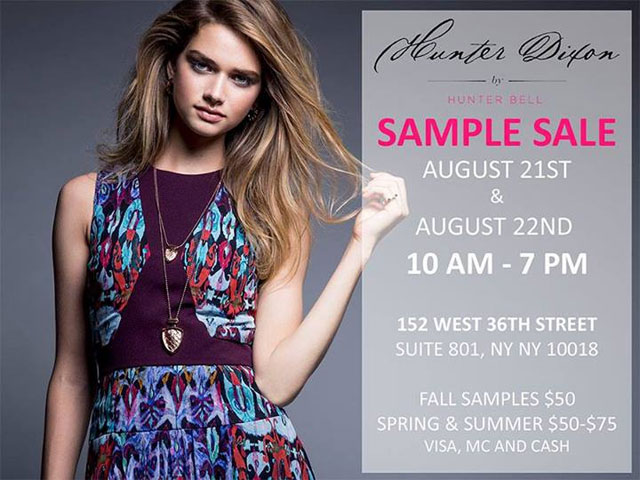 Hunter Dixon by Hunter Bell Clothing New York Sample Sale