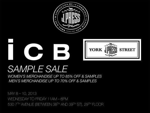 ICB by Prabal Gurung & J. press York Street Sample Sale