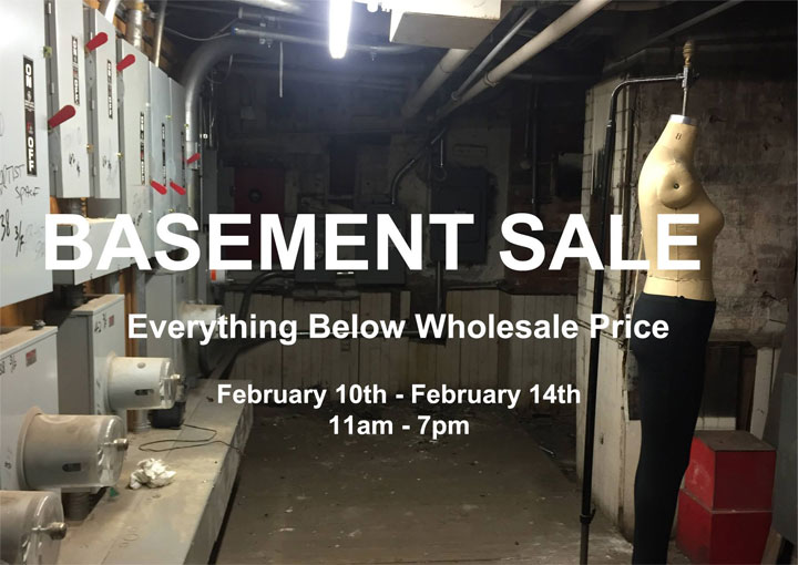 IF SoHo Semi Annual Basement Sale