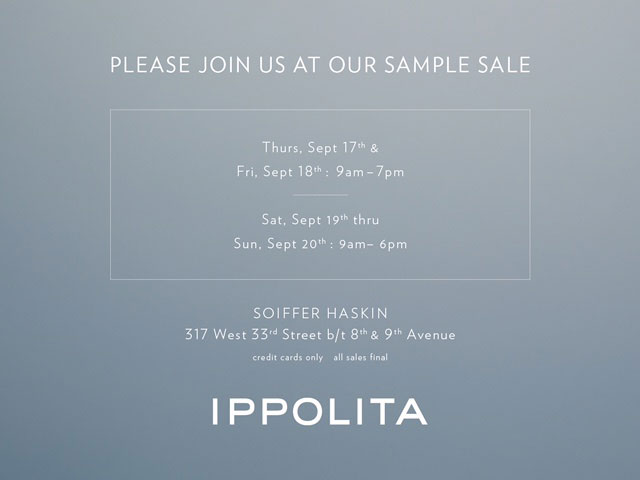 IPPOLITA Sample Sale