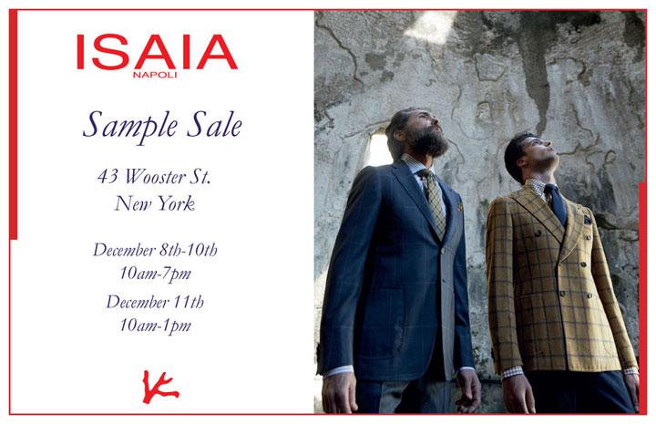 Isaia Napoli Sample Sale