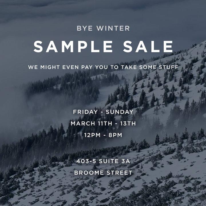 ISAORA Sample Sale
