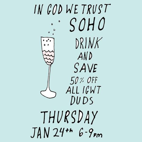 Drink & Shop at In God We Trust