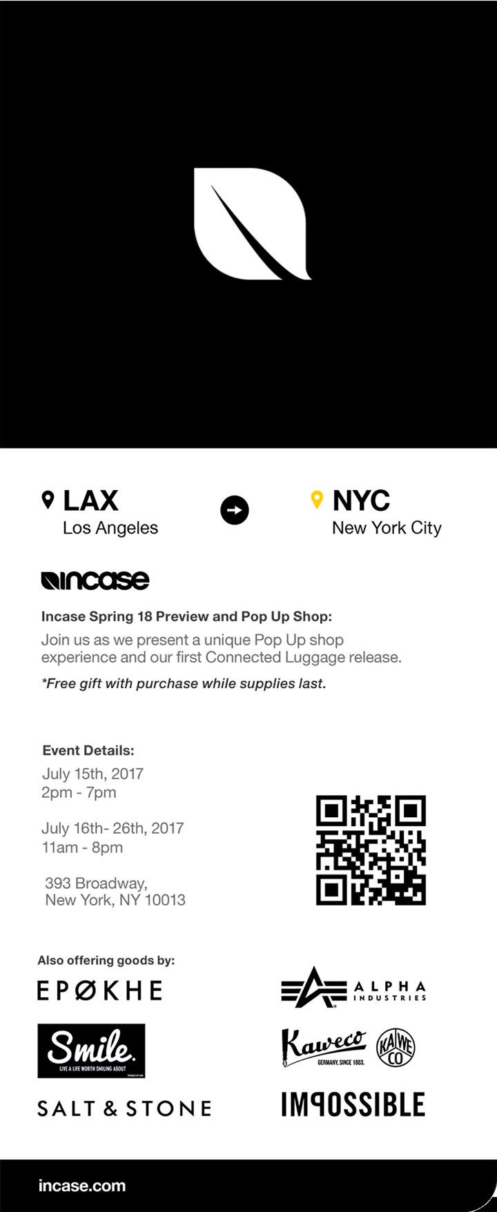 Incase NYC Pop Up Shop