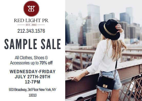 Influencer Sample Sale