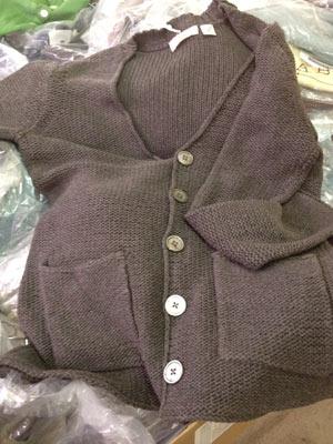 Inhabit Linen Blended Cashmere Double Pocket Navy Sweater ($60)