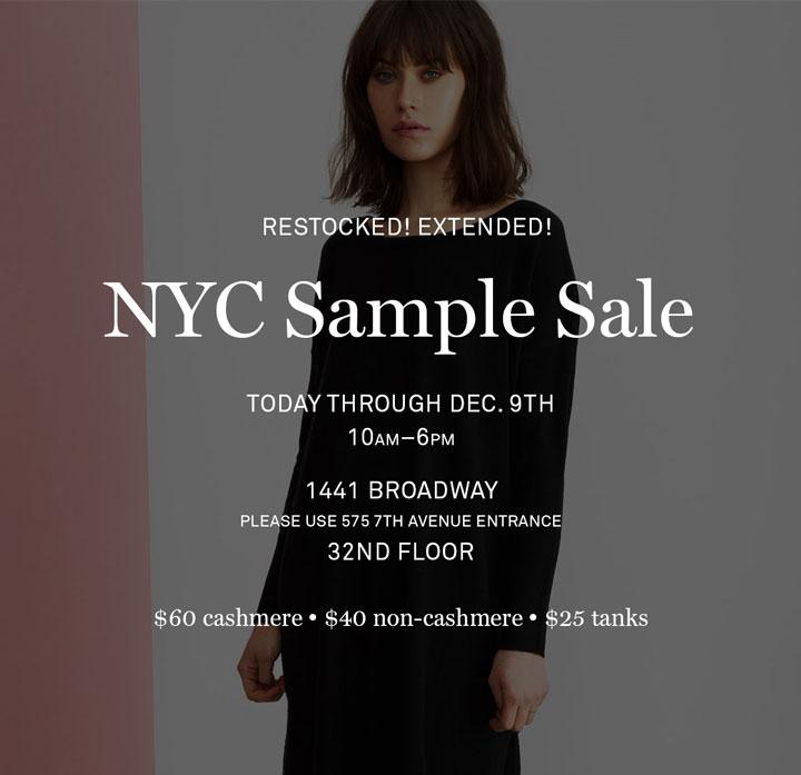 Inhabit Sample Sale