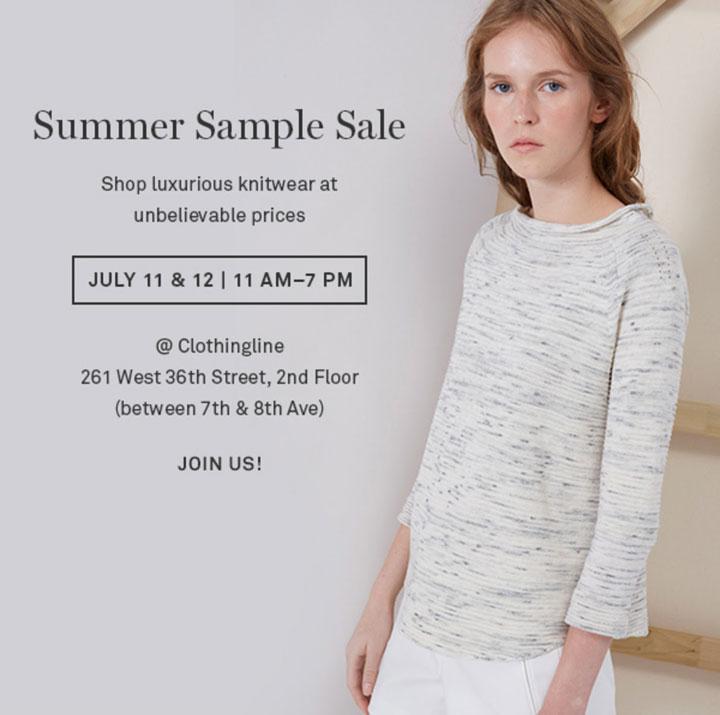 Inhabit Summer Sample Sale