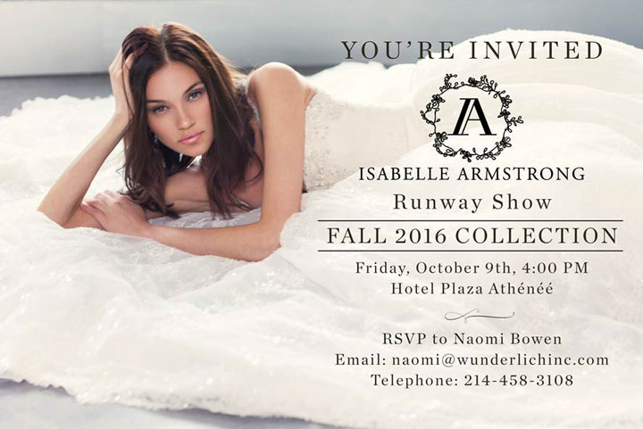 Isabelle Armstrong Fall 2016 Luxury Bridal Show
