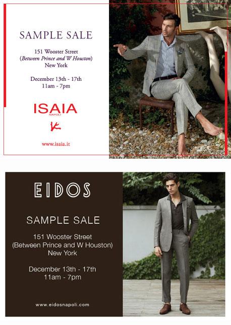 Isaia + Eidos Sample Sale