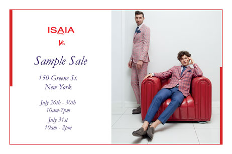Isaia Sample Sale
