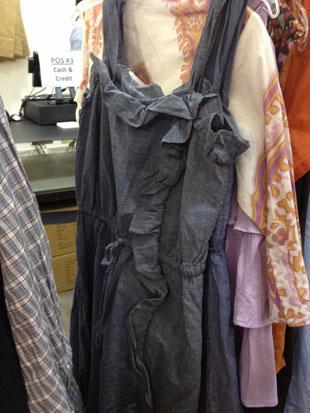 J.Crew Chambray Sleeveless Ruffle Dress ($30)