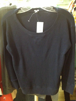 J.Crew Cropped Navy Thermal ($15)