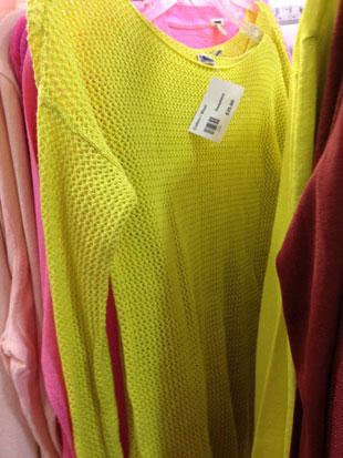 J.Crew Neon Knit Throw-over ($65)