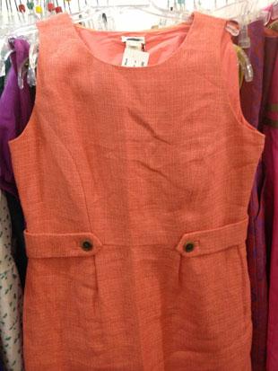 J.Crew Sleeveless Peach Knee Length Dress ($60)