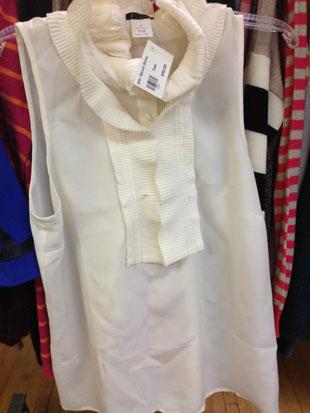 J.Crew Sleeveless Silk Blouse ($30)